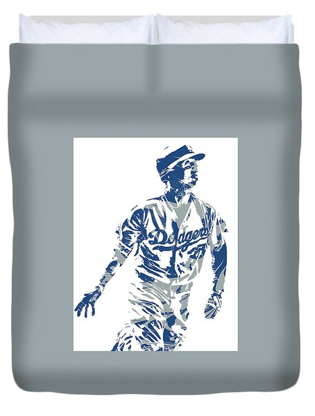 Cody Bellinger Los Angeles Dodgers Pixel Art 20 Duvet Cover