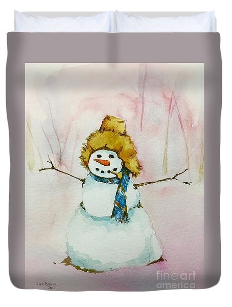 Cody's First Frosty Duvet Cover by Lynn Babineau