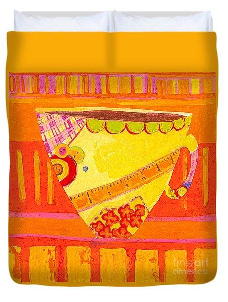 Coffe Mug - Teacup - Tailor Colorful Design Illustration  Duvet Cover