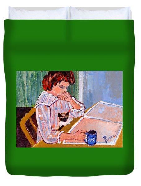 Coffee And Cat Duvet Cover