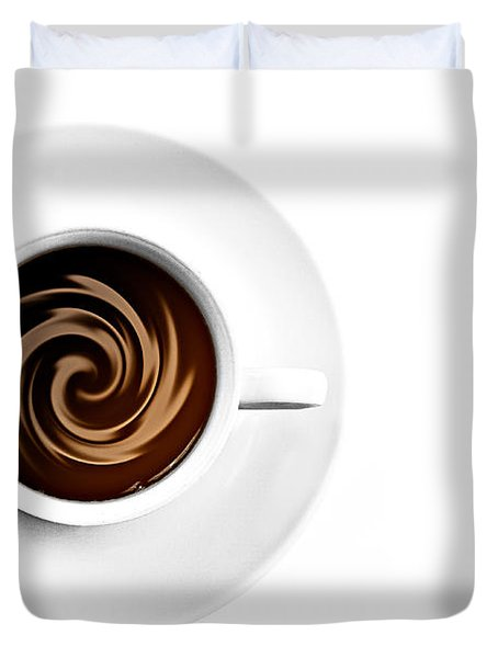 Duvet Cover featuring the photograph Coffee And Cream by Gert Lavsen