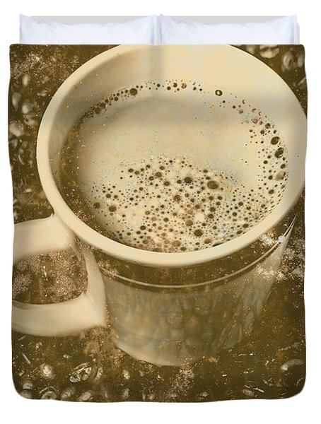 Coffee And Nostalgia Duvet Cover
