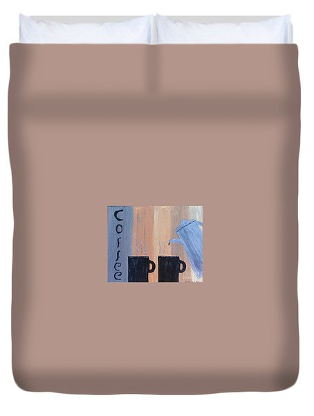 Coffee Art Duvet Cover