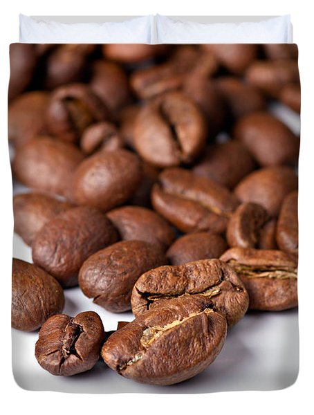 Duvet Cover featuring the photograph Coffee Beans by Gert Lavsen