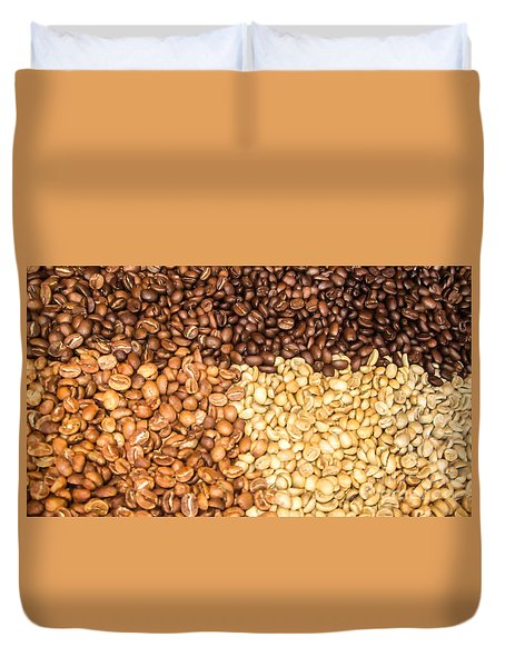 Duvet Cover featuring the photograph Coffee Beans by Suzanne Luft