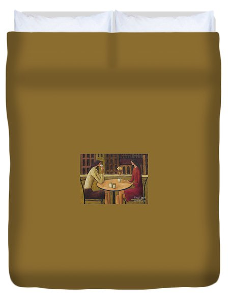 Coffee Break Duvet Cover by Glenn Quist