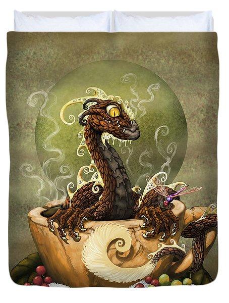 Coffee Dragon Duvet Cover