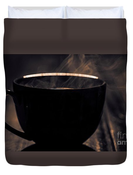 Coffee Is Served Duvet Cover