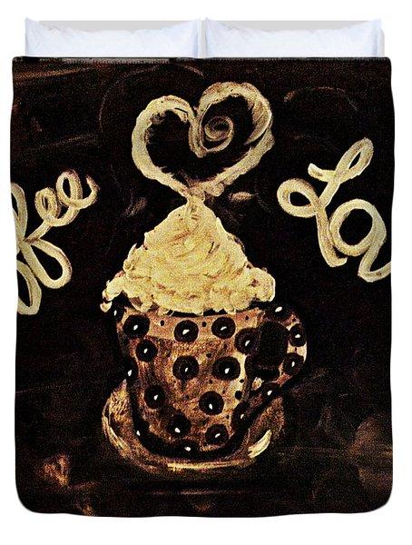 Coffee Love Duvet Cover