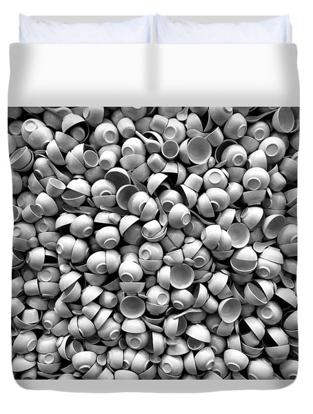 Duvet Cover featuring the photograph Coffee Please by Dorin Adrian Berbier