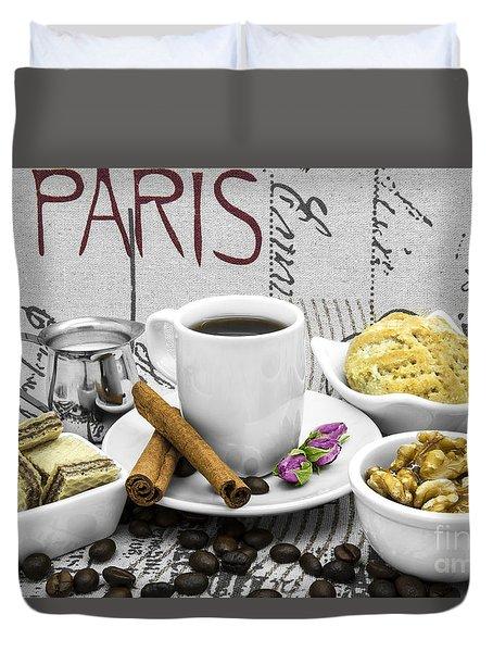 Coffee Still Life Duvet Cover