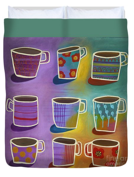 Coffee Time Duvet Cover by Carla Bank