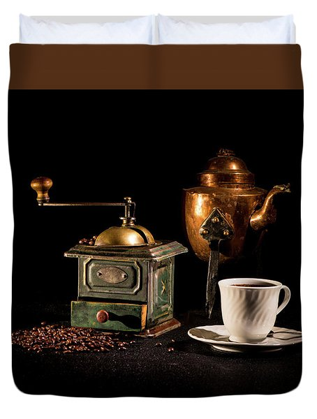 Duvet Cover featuring the photograph Coffee-time by Torbjorn Swenelius