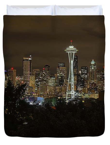 Coffee Town Duvet Cover by James Heckt