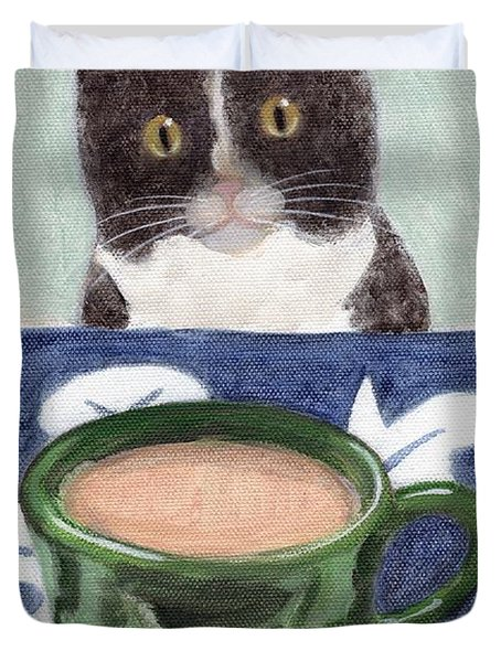 Coffee With Henry #4 Duvet Cover