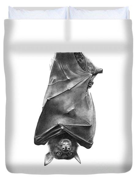 Coffie The Fruit Bat Duvet Cover by Abbey Noelle