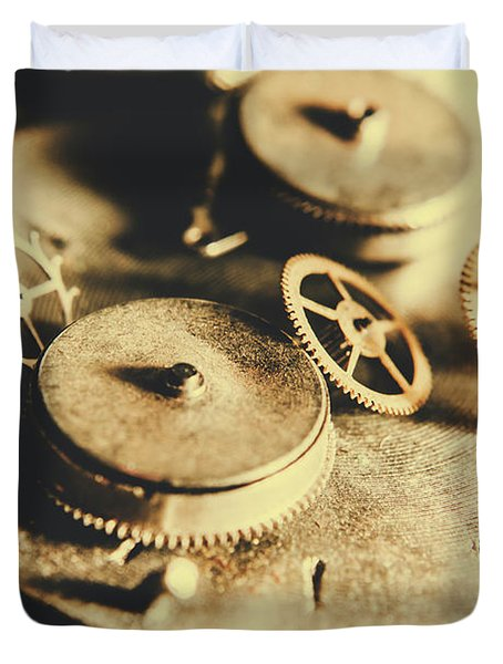 Cog And Gear Workings Duvet Cover