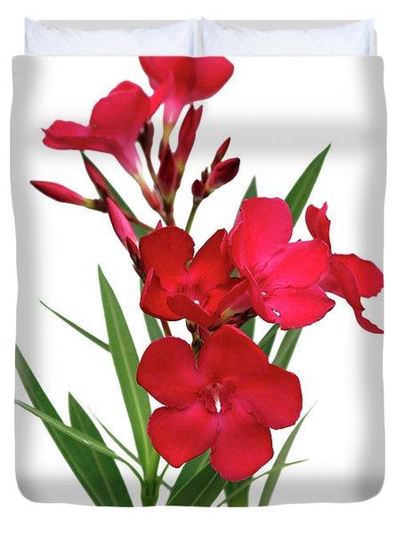 Cog  Nerium Oleander Emile Sahut Duvet Cover