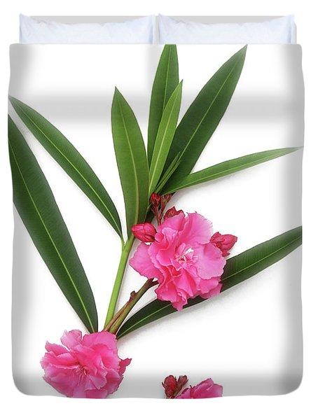 Cog  Nerium Oleander Splendens Giganteum Duvet Cover