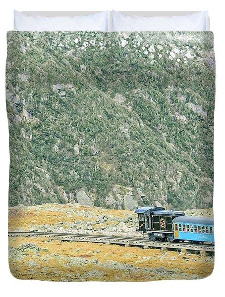 Cog Railroad Train. Duvet Cover