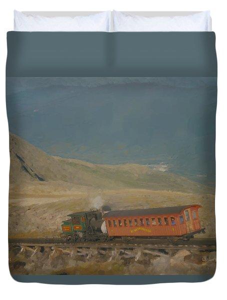 Cog Railway Mount Washington Duvet Cover