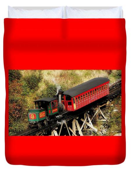 Cog Railway Vintage Duvet Cover