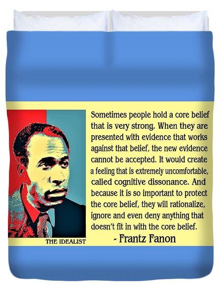 Cognitive Dissonance Frantz Fanon Duvet Cover