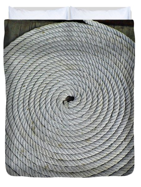 Coiled By D Hackett Duvet Cover