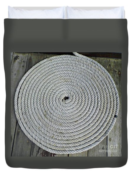 Coiled By D Hackett Duvet Cover by D Hackett