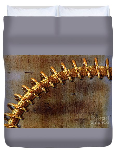 Duvet Cover featuring the photograph Coiled By Kaye Menner by Kaye Menner