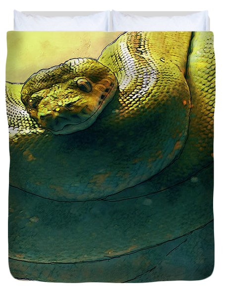 Coiled Duvet Cover by Jack Zulli