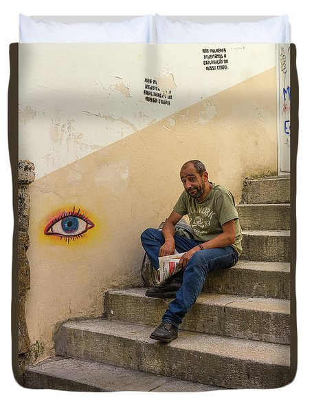 Duvet Cover featuring the photograph Coimbra  Local  by Patricia Schaefer