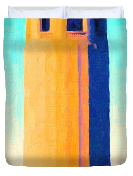 Coit Tower San Francisco Duvet Cover by Wingsdomain Art and Photography