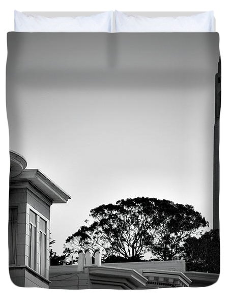 Coit Tower Duvet Cover