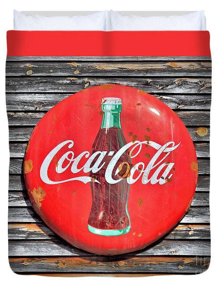Coke Duvet Cover by Marion Johnson