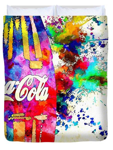 Cola Grunge Duvet Cover by Daniel Janda