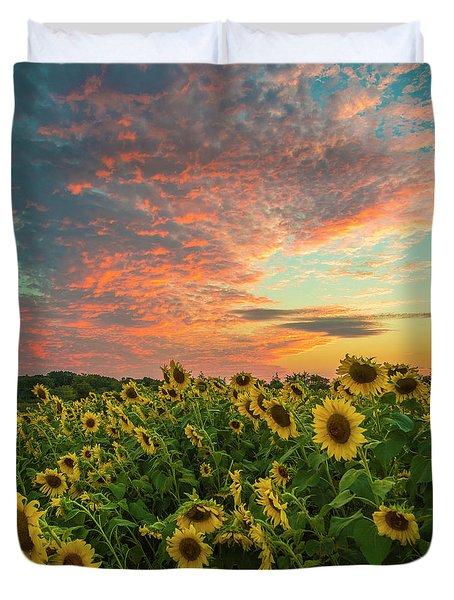 Colby Farm Sunflowers Duvet Cover
