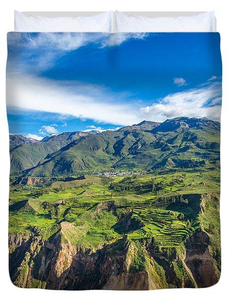 Colca Canyon Peru Duvet Cover