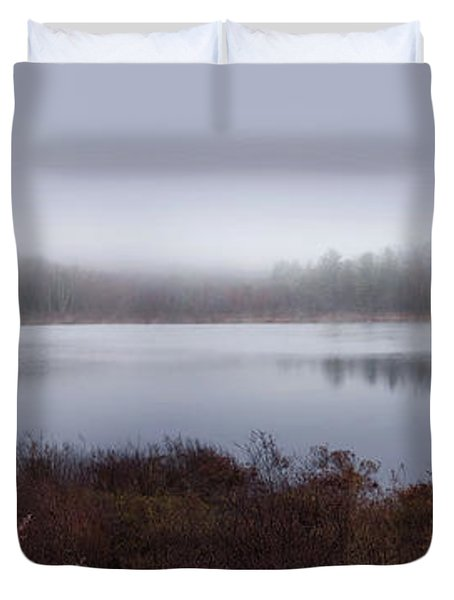 Cold And Misty Morning... Duvet Cover