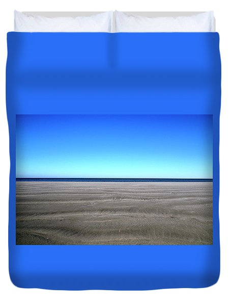 Cold Beach Day Duvet Cover