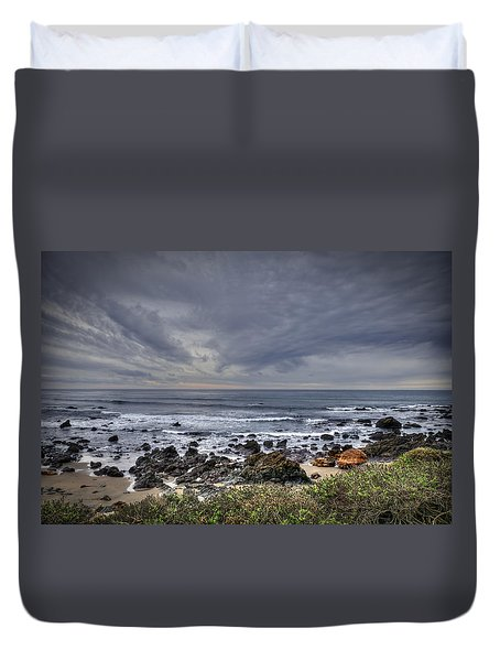 Cold Beach Duvet Cover