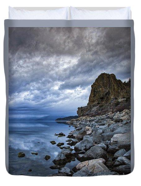 Cold Blue Cave Rock Duvet Cover