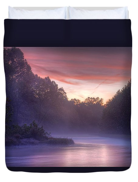 Cold Blue Mist Duvet Cover