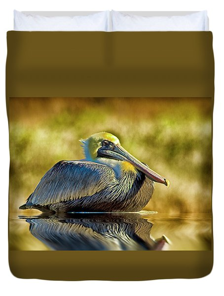 Cold Brown Pelican Duvet Cover