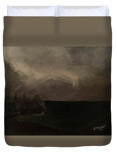 Cold Fog And Sea Duvet Cover