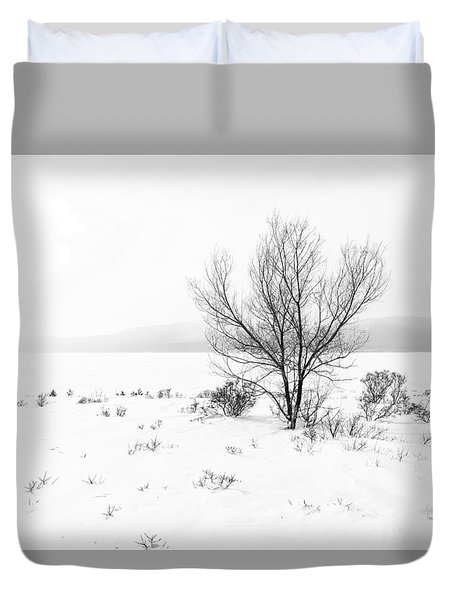 Cold Loneliness Duvet Cover by Hayato Matsumoto