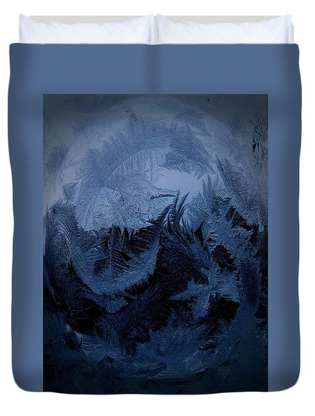Cold Moon Rising Duvet Cover