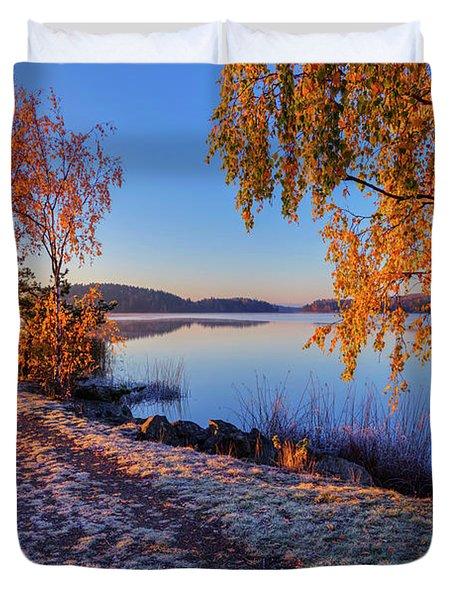 Cold Morning 2 Duvet Cover
