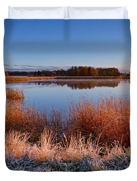 Cold Morning Duvet Cover