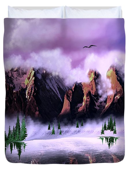 Cold Mountain Morning Duvet Cover